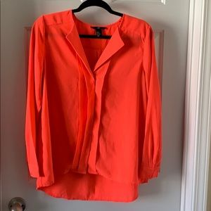 Bright Coral Business Casual Top